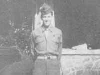 Coney Carlyle Couch In Uniform - CPL US Army WW II